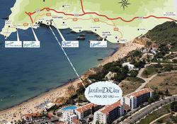 mapa praia do vau Location & Directions   Jardim do Vau Portimao Jardim do Vau Praia  mapa praia do vau